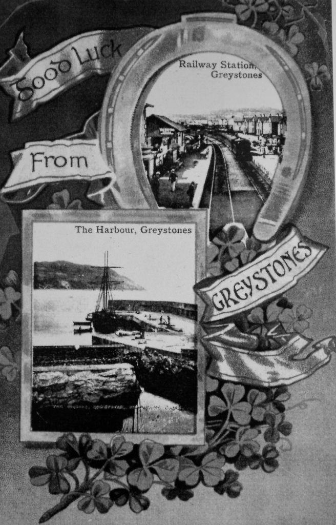 Good Luck From Greystones greeting card. Source Derek Paine