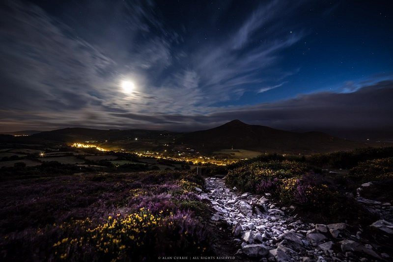 Sugar Loaf By Night Pic: Alan Currie