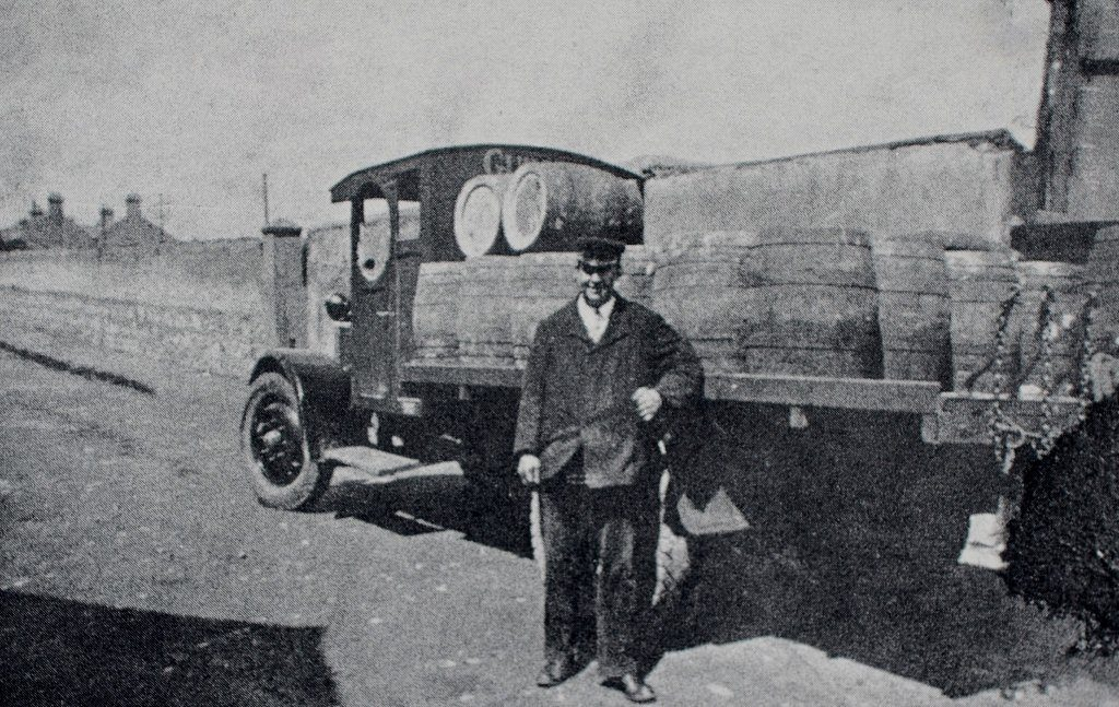 Beer delivery truck outside the train station - before the shops arrived. Source Derek Paine