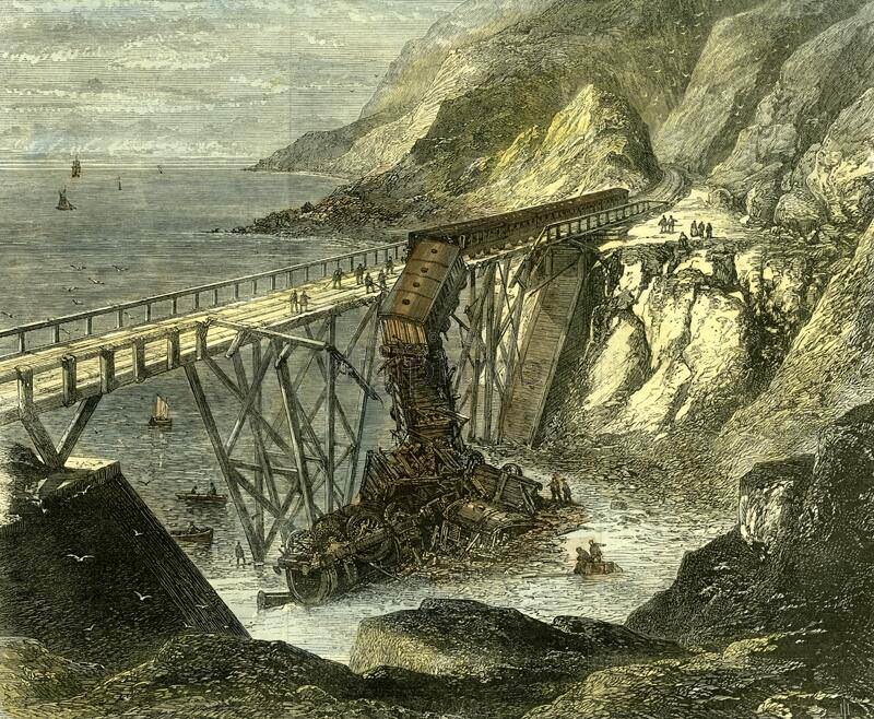 Cliff Walk First Railway - Bridge Disaster 1867