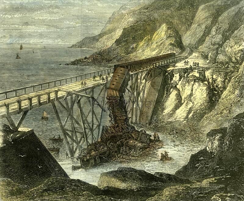 Cliff Walk First Railway - Bridge Disaster 1867