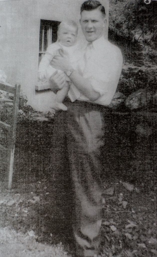 Danny Hatton with son John 1958