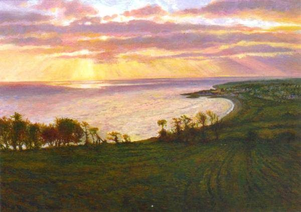 Golden Morning, Greystones by Rick Bentham