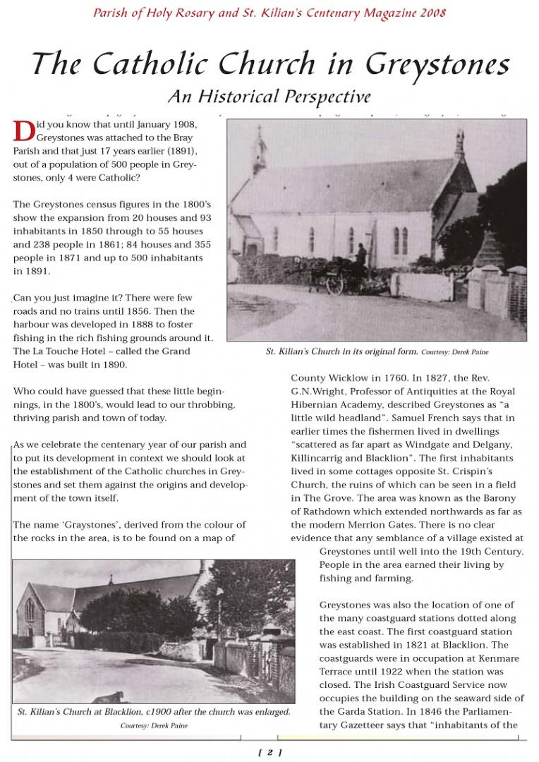 Greystones Catholic Church History 2