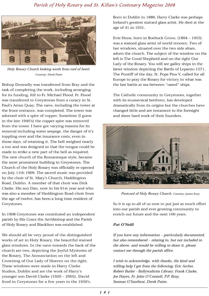 Greystones Catholic Church History 4