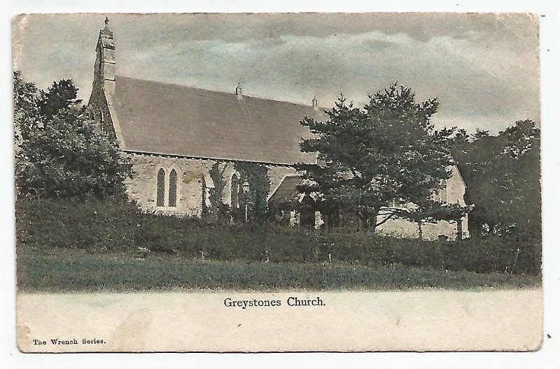 Greystones Church The Wrench Series Postcard