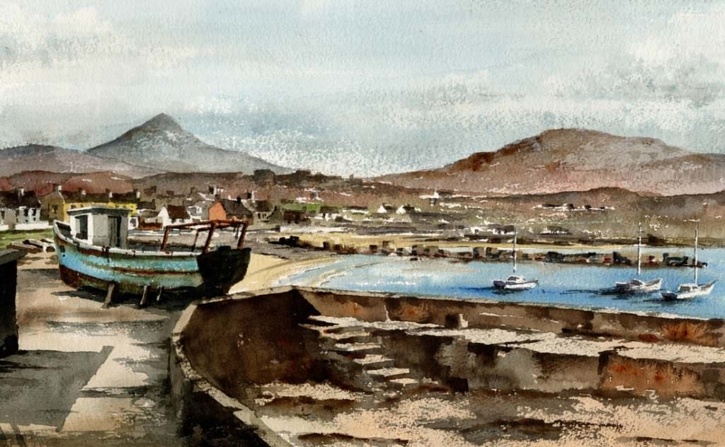 Sugar Loaf & Harbour by Val Byrne