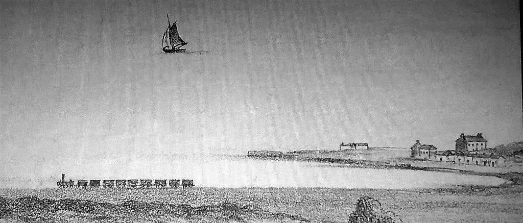 Greystones Harbour by Henry McManus RHA 1855