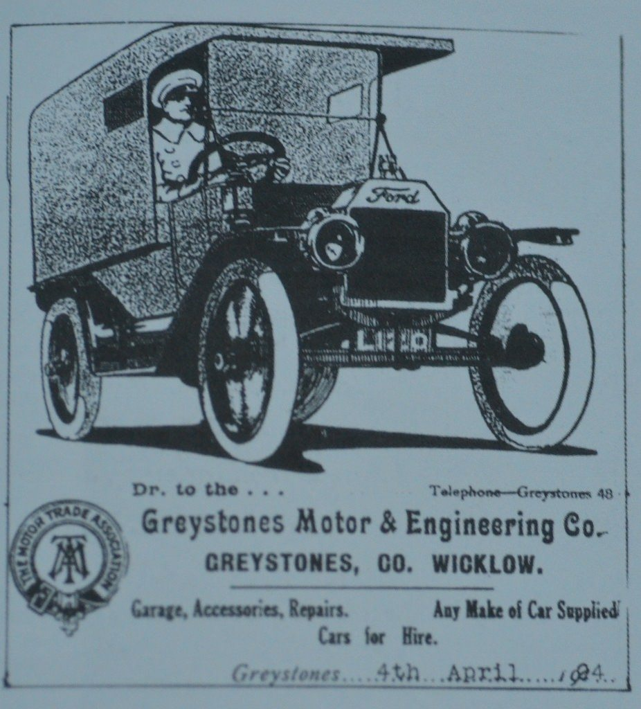 Greystones Motor & Engineering Company billboard Source Derek Paine