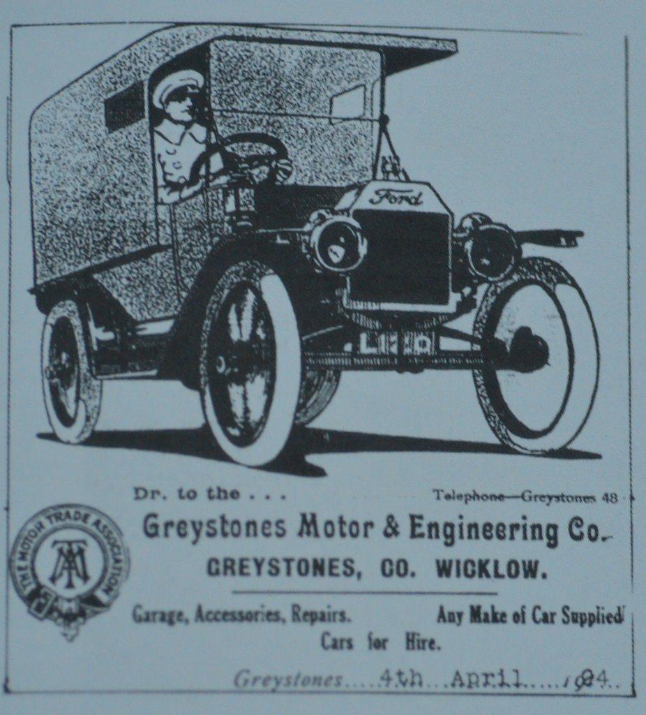 Greystones Motor & Engineering Company billboard Source Derek Paine