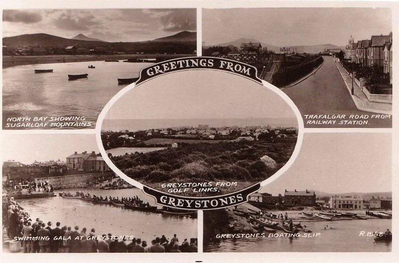 Greystones Postcard 1930s or '40s Source Patrick Neary