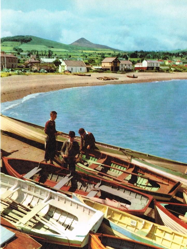 Greystones Postcard Harbour 1950s
