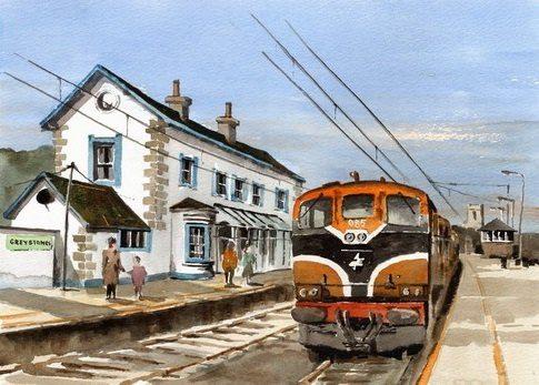 Greystones Railway Station by Val Byrne