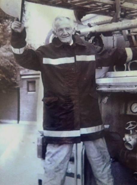 Jim Hayden retires from Greystones Fire Brigade Oct 1989 after 24 years