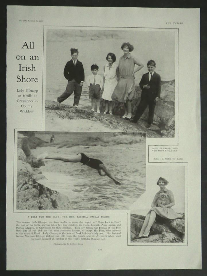 Lady Glenapp on holiday in Greystones The Tatler Aug 1929