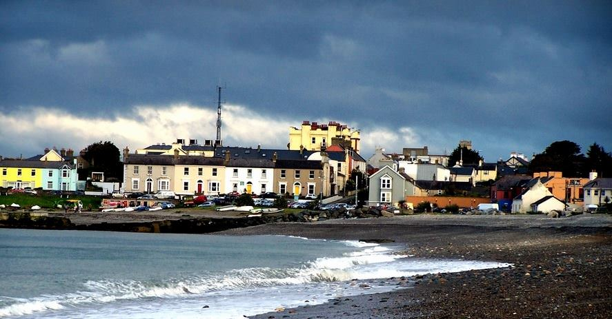 Old Greystones Harbour with La Touche Hotel Pic Anne Stanley