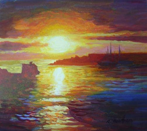 Sunrise, The Harbour by Rick Bentham