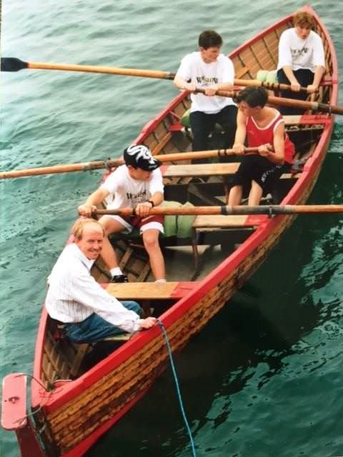 The Greystones Rowing Club's Shamrock 1, with cox Niall Hayden August Monday 1992
