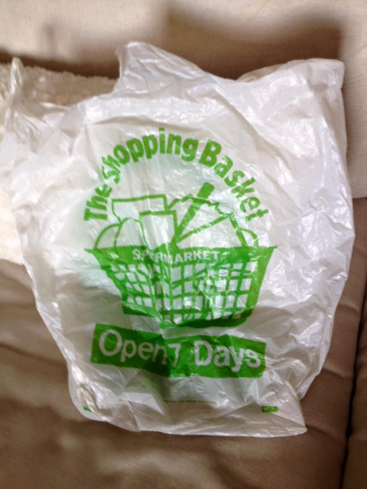 The Shopping Basket's iconic plastic bag Pic Danielle Murphy