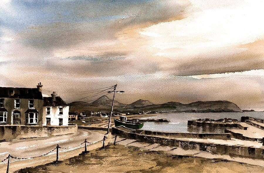 Greystones Harbour Evening by Val Byrne
