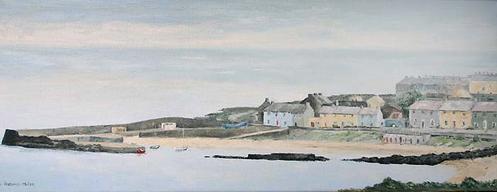 Greystones Harbour Painting - Artist Unknown