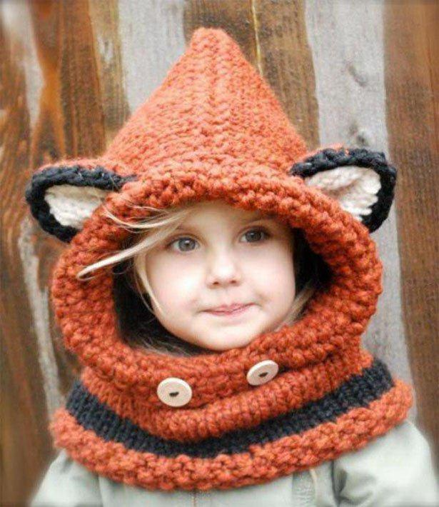 knitting kids wooly winter model