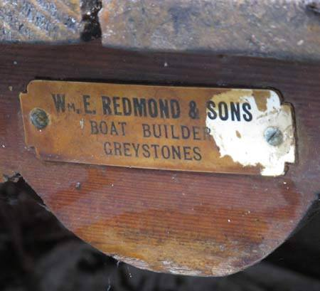 willie redmond and sons boat builders greystones plaque